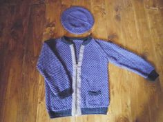 CARMELA, beautiful cardigan and scull-cap in aran-weight cotton for the bairns. Do-it-yourself - knitting pattern from domoras