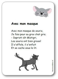 Compare ways to make the is/it/i sound with this poem. Halloween Poems, Halloween 2, Ernest And Celestine, Splat Le Chat, French Poems, French Practice, Core French, French Lessons, Free Things