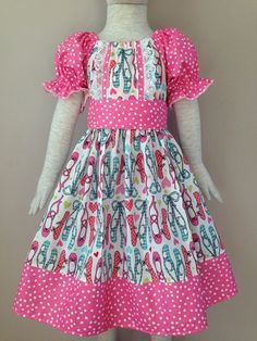 Size 5t.....Ballet Slipper Dress.....Made and by LevonaDanielle
