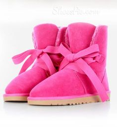 nice Fancy Candy Color Bowknot Snow Boots