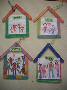 Pin by ivonne on inrichting klas preschool family, crafts for kids. Preschool Family Theme, Preschool Classroom, In Kindergarten, Preschool Activities, Classroom Family Tree, Kindergarten Social Studies, Exercise Activities, Kids Crafts, Arts And Crafts