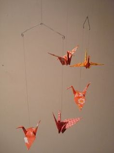 Paper crane mobile prototype two