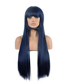 Diy-Wig Sexy Multi-Color Long Straight Flat Bang Cosplay…