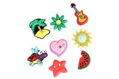 Set of 8 Girl III Jibbitz Style Your Crocs Fun Clips Charms With Extra by La Demoiselle. $6.99. Press the holder of the Shoe Charms with a slight twist in the holes of the shoes.