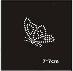 Cute little butterfly hotfix rhinestones, heat transfer design iron on motifs,rhinestone applique,sewing accessories(ss Rhinestones. Rhinestone Shirts, Rhinestone Art, Rhinestone Appliques, Punched Tin Patterns, Pink Cowboy Hat, Butterfly Shirts, Crystal Fashion, Butterfly Pattern, Diy Sewing Projects