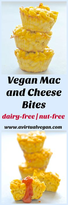 A twist on an old favourite. These Vegan Mac and Cheese bites are perfect for after school snacking or packed lunches and are incredibly quick & easy to make! via @avirtualvegan