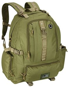 Mens Tan Hydration Ready Outdoor Tactical Hiking Backpack Daypack Bag 21 Inch *** Click image to review more details.