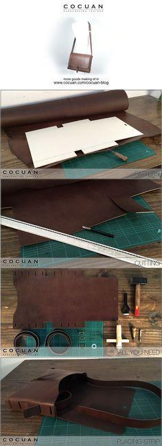 Making of – Leather big messenger bag   COCUAN