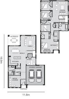 Standard floorplan for The Hadley