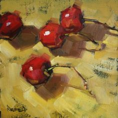 Cherries on Curry, painting by artist Cathleen Rehfeld