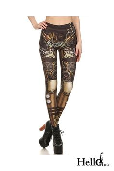 Designed with premium high quality material, Light-weight, flexible and move with you every step. Steampunk Leggings, Steampunk Costume, Steampunk Clothing, Steampunk Fashion, Steampunk Goggles, Women's Fashion Leggings, Women's Leggings, Tights, Cyborg Costume