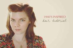 An Easy 1940s Pinback Hairdo | 27 Gorgeously Dreamy Vintage-Inspired Hair Tutorials