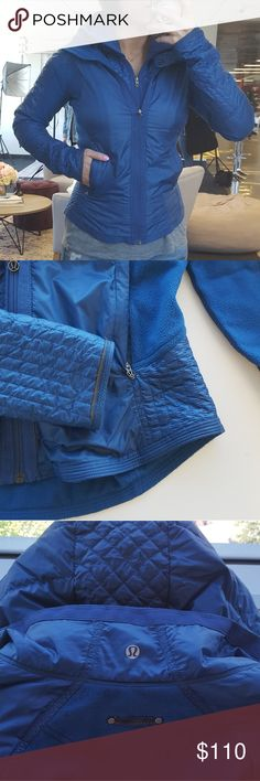 Lululemon Bundle Up Jacket Excellent condition, Lululemon engineered this warm run jacket with soft fleece, premium goose down and water-resistant panelling to help us fend off the winter weather. A removable hood gives us the option to switch up our coverage for those sunnier days. Purchased for $198, no trades! lululemon athletica Jackets & Coats