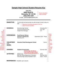Student Resume High School Student Resume Example Resume Template Builder