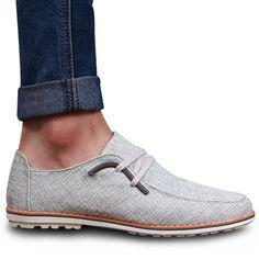 Preppy Round Toe and Metallic Design Men's Casual Shoes