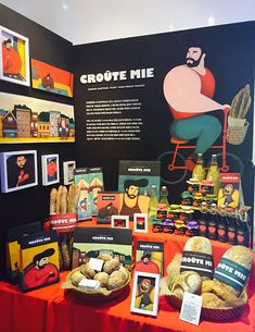 홍익대학교 디자인학부 시각디자인전공 졸업전시회 2015 » Croûte Mie Graphic Design Branding, Packaging Design, Logo Design, Visual Merchandising Displays, Counter Display, Hotel Branding, Exhibition Display, Display Design, Book Illustration