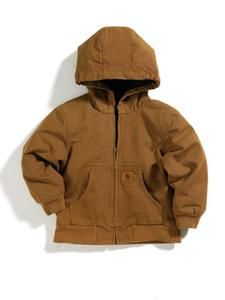 Carhartt Big Kids Hooded Quilted Flannel Lined Jacket Sizes 8-20  http://www.supercasuals.com/Carhartt/Carhartt_CP8417BK.cfm