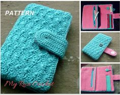 CROCHET Purse PATTERN Crocheted Ladies Phone by MyRoseCrochet