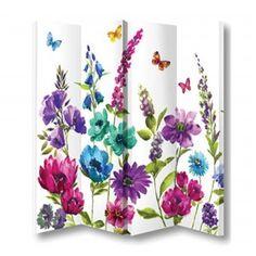 Arthouse 4 Panel Room Divider Cottage Garden 008147