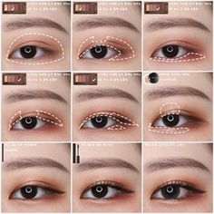 Find more information on makeup tips and tricks Korean Makeup Look, Korean Makeup Tips, Asian Eye Makeup, Korean Makeup Tutorials, Make-up-tipps Und Tricks, Tips And Tricks, Korean Beauty Tips, Korean Make Up, Asian Eyes