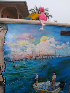 Patsy and Paulie checked out the murals at Laishley Park in Punta Gorda, Florida