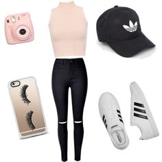 A fashion look from August 2016 by coreca featuring WearAll, adidas, Fujifilm…