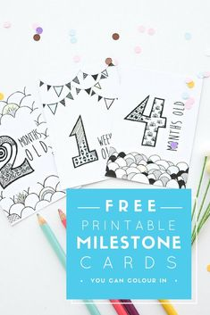 Free Printable Milestone Cards // The perfect stylish way to document your growing baby! Monochrome Milestone cards to pair with your Blueberry Co Monochrome Baby Book www.blueberryco.com.au