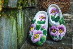 Обувь ручной работы. Ярмарка Мастеров - ручная работа Тапочки «Нежность». Handmade.