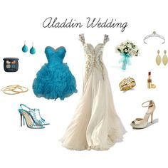 A fashion look from May 2012 featuring short prom dresses, high heel shoes and slip on sandals. Browse and shop related looks. Princess Jasmine Wedding, Aladdin Wedding, Disney Bound Outfits, Disney Dresses, Prom Dresses, Fairytale Weddings, Disney Weddings, Themed Weddings, Intimate Weddings