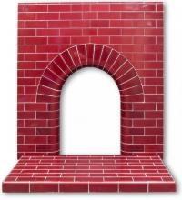 Edwardian Arch tiled fireplace insert   Twentieth Century Fireplaces
