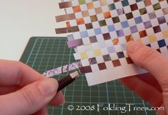 paper weaving tutorial...strips from colorful magazines or calendars would be great with this technique...