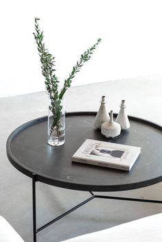 """The original coffee table, typically, is a normal table with shorter legs to make the table lower to the floor. It's not clear when term """"coffee table"""" began Steel Coffee Table, Black Coffee Tables, Unique Coffee Table, Coffee Table Styling, Round Coffee Table, Coffee Table Books, Decorating Coffee Tables, Coffee Table Design, Modern Coffee Tables"""