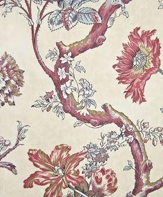 Tree of Life Curtain Fabric. Light Brown Cotton curtain fabric with pink and purple tree of life design. From Nicholas Herbert range. Cotton Curtains, Curtain Fabric, Purple Trees, Purple Fabric, Life Design, Tree Of Life, Tapestry, Dressing Rooms, Guest Room