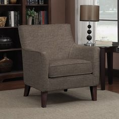 Shop for Portfolio Waldron Chocolate Brown Linen Arm Chair. Get free shipping at Overstock.com - Your Online Furniture Outlet Store! Get 5% in rewards with Club O!