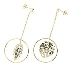 ZOECA EARRING Tropical Leaves Tropical Leaves, Gold Necklace, Earrings, Jewelry, Ear Rings, Gold Pendant Necklace, Stud Earrings, Jewlery, Jewerly