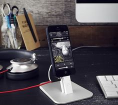 Hirise #Stand For #iPhone And #iPad Mini – $35 / HiRise for iPhone 5/iPad mini is a beautiful, brushed metal stand designed to work with your Lightning Cable and nearly any iPhone/iPad mini case. http://thegadgetflow.com/portfolio/hirise-stand-for-iphone-and-ipad-mini/