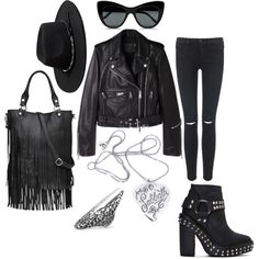 """""""ALL BLACK EVERYTHING"""" by souvenir-jewelry on Polyvore"""