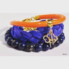 Diy#handmade#bracelet#colours#orange#stones#cool#doityourself