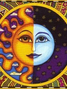 Sun and Moon Paintings | Repinned via sanny a. ®