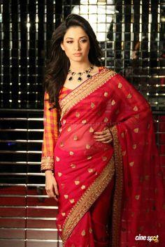 Tamanna Saree Photoshoot Stills (8)