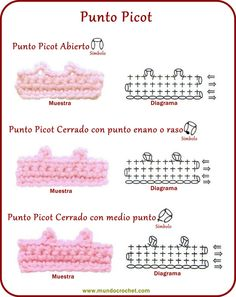 Punto picot - Picot - вязание крючком пунктов
