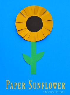 This paper sunflower craft is a great craft for kids to end the summer and start the fall. It requires very little to prep and works on scissor skills.