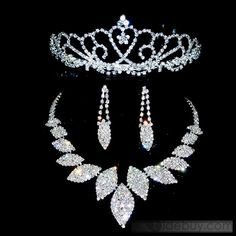 Amazing Crystal Wedding Bridal Tiaras  Sets-(Including Necklace,earring)