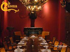 En Restaurante LA CASONA, el mejor restaurante de la Ciudad de Chihuahua, tenemos a su disposición varios salones con diferentes capacidades, lujosamente decorados para poder realizar sus eventos y disfrutar de los exquisitos platillos preparados por nuestros chefs. Informes y reservaciones al teléfono (614) 410 0063 o 0043 o www.casona.com.mx #visitachihuahua