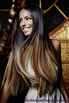 Ombre Hair Coloring -Brown To Blonde