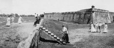 Picture showing in 1885 how the fort was used as a golf course.