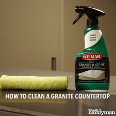 You spent a lot of money on your kitchen remodel and now you want to take care of it. So, if you're wondering how to clean granite countertops, you've come to the right place. Homemade Cleaning Supplies, Diy Cleaning Products, Cleaning Hacks, Caring For Granite Countertops, Diy Countertops, Granite Cleaner, How To Clean Granite, Granite Kitchen, Cleaners Homemade