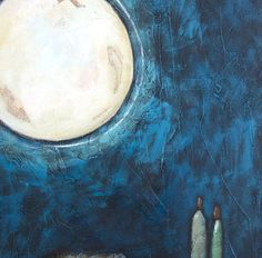 Buy Conversation with the Moon I, acrylic on canvas, Acrylic painting by Mariann Johansen-Ellis on Artfinder. Discover thousands of other original paintings, prints, sculptures and photography from independent artists.