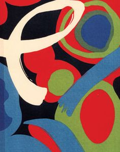 Joy of Life Red Abstract fabric inspired by Henry Matisse by Alexander Henry