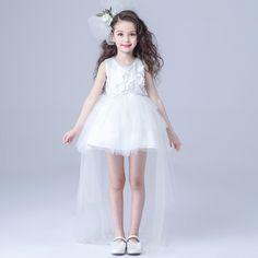27.27$  Buy here - https://alitems.com/g/1e8d114494b01f4c715516525dc3e8/?i=5&ulp=https%3A%2F%2Fwww.aliexpress.com%2Fitem%2FBrand-Long-Tailed-Formal-Girl-s-Dresses-Children-White-Sleeveless-Ball-Princess-Flower-Girl-Vestidos-Kids%2F32624650082.html - Brand Long Tailed Formal Girl's Dresses Children White Sleeveless Ball Princess Flower Girl Vestidos Kids Clothes 2016 AKF164023